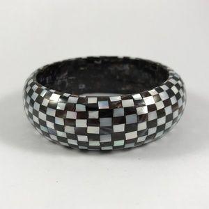 Vintage MOP Bangle Bracelet, Mother of Pearl